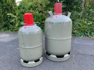 5 kg 11 kg Gasflaschen Eigentum grau zum tauschen