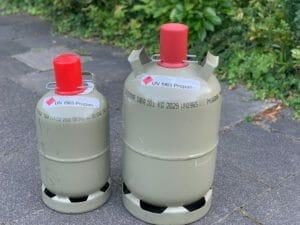 5kg und 11kg Gasflaschen grau