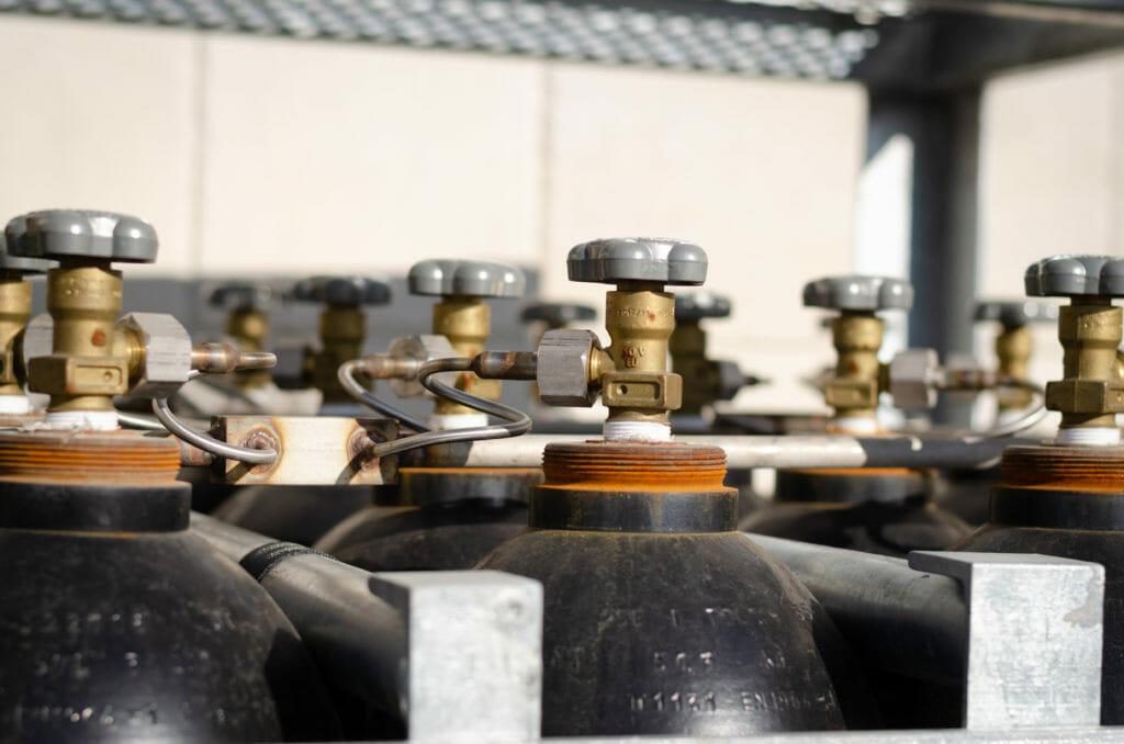 Stickstoff Flaschenbündel