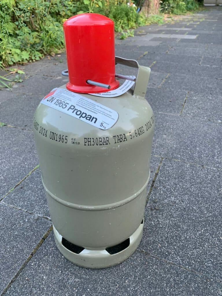 5 kg Gasflasche grau