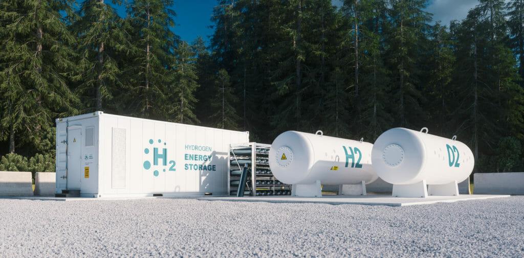 Wasserstofftank liegend