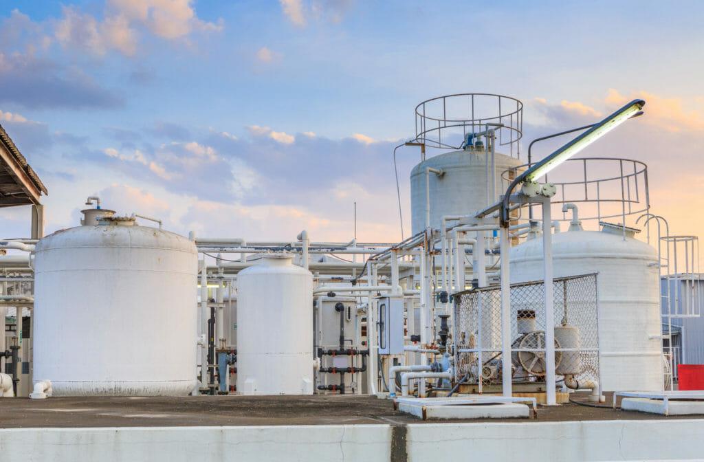 Stickstoff Gastank in der Industrie