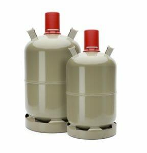 Gasflaschen Grau 5kg und 11kg Render
