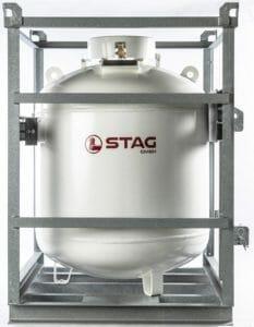 320 kg Gasfass in Transportkäfig